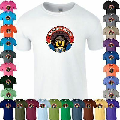 Everything is Awesome Kids T Shirt Funny Lego Gift Birthday Boys Tee Top T-Shirt