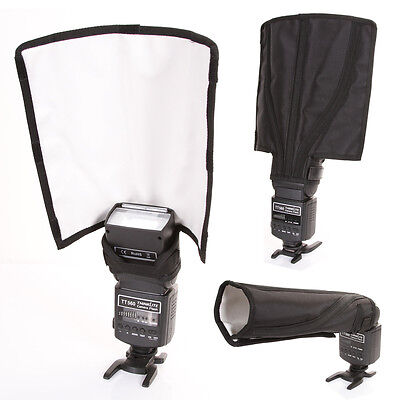 AU Foldable Flash Diffuser Strobe Snoot Beam Reflector F Canon Yongnuo Speedlite