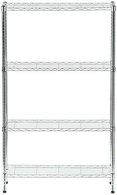 HDX 4-Tier 35.7 in. x 59.3 in. x 14 in. Wire Home Use Shelving Unit