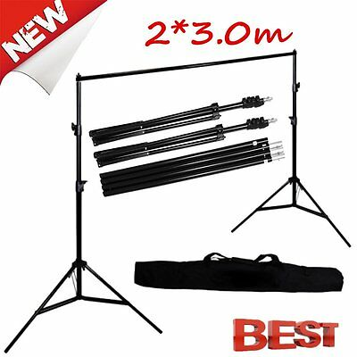 Photography Adjustable 10Ft Background Support Stand Photo Crossbar Studio Kit #