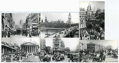 London 1900-1930 Streets Vehicles...6 Photos