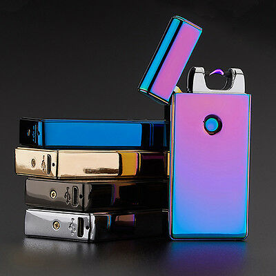 Cigarette Lighter Rechargeable Plasma Windproof USB Electric Flameless SingleArc