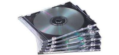 CD-Leerhülle, Jewel Case, transparent/schwarz 10-er Pack