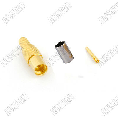 2X Universal Connector SMA male plug crimp RG174 RG316 LMR100 cable straigh FBHK