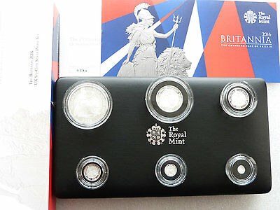 2016 Britannia Proof Silver Six Coin Proof Set As Issued