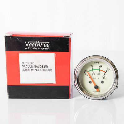 Vintage Veethree 52mm Vacuum Gauge #