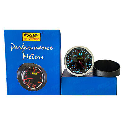 "Motor Meter Racing 2.5"" Black Tinted Len LED Electric Mechanical Vacuum Gauge #"