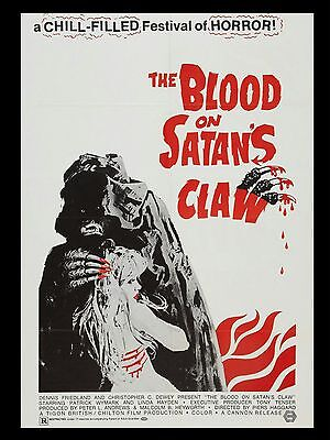"""Blood on Satans Claw 16"""" x 12"""" Repro Movie Poster Photograph"""