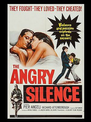 """The Angry Silence 16"""" x 12"""" Reproduction Movie Poster Photograph"""
