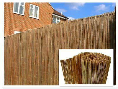 Natural Peeled Reed Screening Roll Garden Screen Fence Fencing Panel 4m (1m x 4m