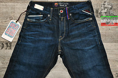 Replay Fc Barcelona Boys Kids Jeans Size Age 10 Years New Bnwt Adjustable Waist