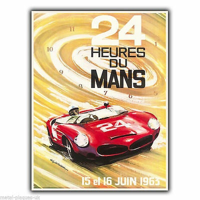 24 Heures du Mans  Vintage Retro Advert METAL WALL SIGN PLAQUE poster print