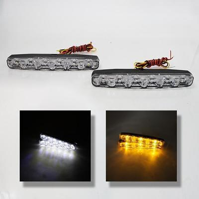 Led Daytime Running Lights Drl E4+Turn Signal Indicators Universal Car Van Suv