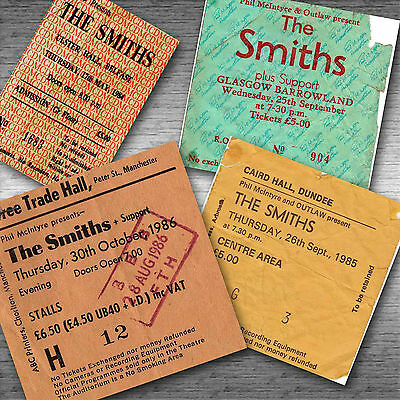 THE SMITHS Magnetic Retro Concert Ticket Set!
