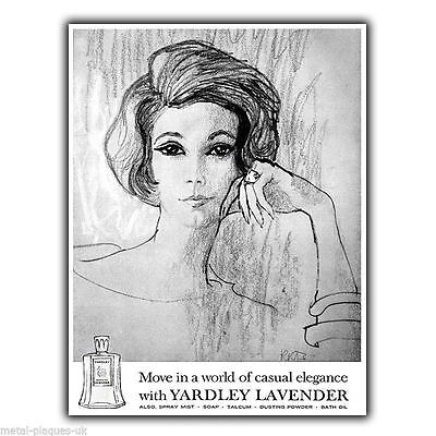YARDLEY LAVENDER PERFUME Vintage Retro Advert METAL WALL SIGN PLAQUE print