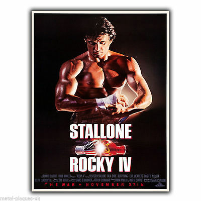 ROCKY IV 4 Movie film METAL WALL SIGN PLAQUE poster print Sylvester Stallone