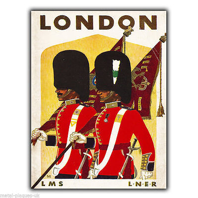 LONDON LMS LNER Vintage Retro Travel Advert METAL WALL SIGN PLAQUE poster print