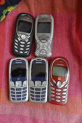 5 x Siemens Mobile phones, spares or repairs