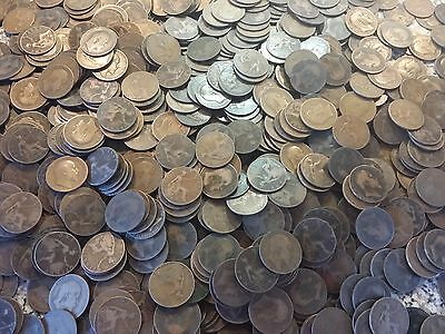 50 Edward Penny coins copper coins one large lot