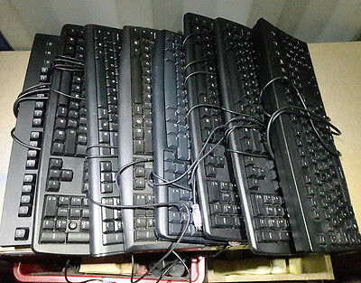 Batch of 8 x used PS2 wired keyboards