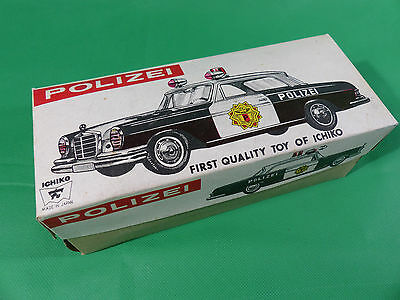 Ichiko Made in Japan - Mercedes Benz W111 Coupe Polizei mint in Box Tinplate