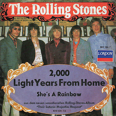 """The Rolling Stones - 2000 Light Years From Home - Vinyl-Single 7"""" LONDON LABEL"""