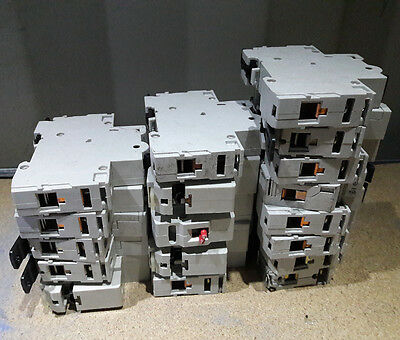 Batch of 18 circuit breakers, various models Eaton, Memshield 2, Hager, Crabtree