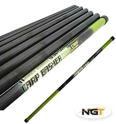 NGT Carp Basher - 11m Full Carbon Carp Fishing Pole With Spare Top 3 Sections