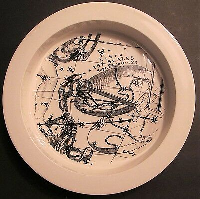 Vintage Libra Iroquois China Bowl Zodiac Horoscope Astrology Mid Century Scales