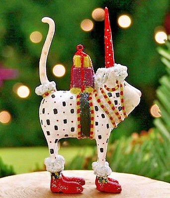 Xmas Krinkles'pat Santa Hat Cat'mini Ornament Patience Brewster Nib