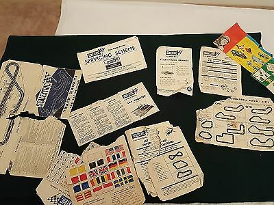 Rare Vintage Scalextric Slot Car Racing Instruction Sheets & Assorted Decals
