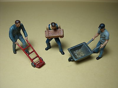 3  Figurines  1/43  Set 155  Manutentionnaires   Vroom  A  Peindre  Unpainted