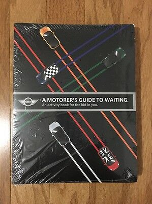 Genuine Mini Cooper A MOTORER'S GUIDE TO WAITING.Lot Of 25 Sealed Activity Books