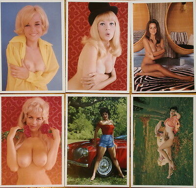 LOTE 6 Postales de BUNNY YEAGER - Pin Up Erotica - Out of print 6 postcards tit