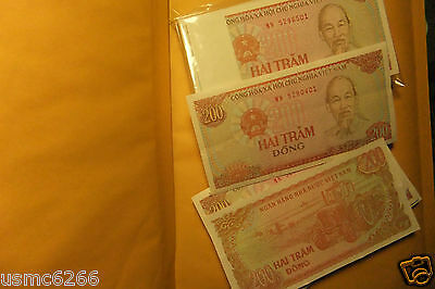 200 DONG VIETNAM P-100b UNCIRCULATED FRESH ( 1 NOTE ) IMPORT BANK OF VIET NAM