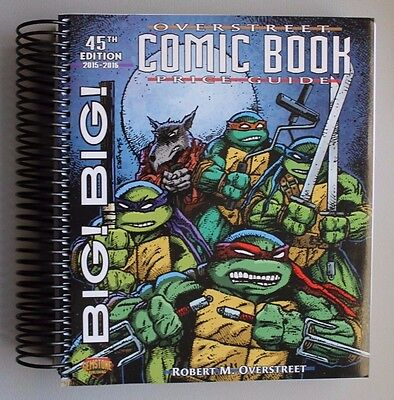 Overstreet Big Big Over Sized Spiral 45Th Price Guide - Tmnt