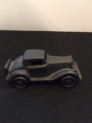 Vintage Cast IRON ART Black Car JM 316