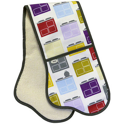 AGA Double Oven Glove in Iconic Print Design NEW