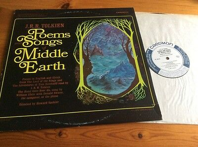 J R R Tolkien Reads Poems & Songs Of Middle Earth Original Caedmon 1967 Lotr Lp