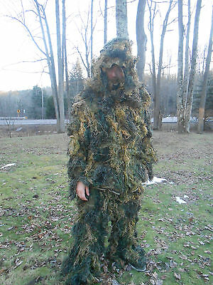 Red Rock Outdoor Gear 4 Piece Ghillie Suit, Woodland, Medium-Large