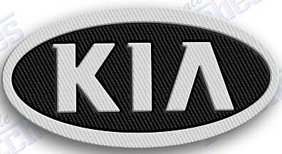 "KIA   iron on embroidery patch 2.3 X 1.7"" EMBROIDERED suv AUTO CAR automobile"
