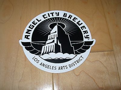ANGEL CITY BREWING Los Angeles Wings Logo STICKER decal craft beer brewery