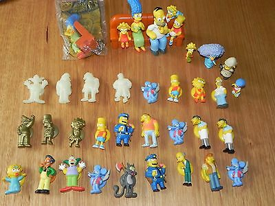 The Simpsons stick'ems gold glow mini figures toys couch set bulk collectors lot
