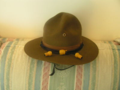 Campaign Hat,em Or Officer's, With Cws Hat  Cord,,chin Strap, Maker Marked..