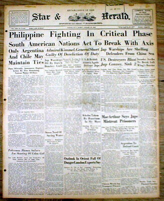 1942 WW II newspaper Japanese atrocities in Philippines B4 BATTAN DEATH MARCH