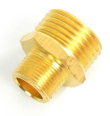 "Salon Shampoo Bowl Faucet Adapter 3/8""Male - 1/2""Male Water Hose Connector"