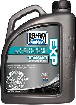 Bel-Ray 4 Liter Exp Synthetic Ester Blend 4T Engine Oil 10W-40 99120-B4Lw