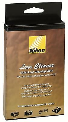 Nikon Lens Cleaner Moist Lens Cleaning Cloth 21-count Individually Wrapped 8175