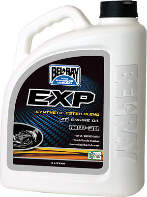 Bel-Ray 4 Liter Exp Synthetic Ester Blend 4T Engine Oil 10W-30 99110-B4Lw