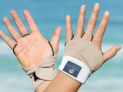 Palmless Gloves UPF50+ White/Sand Sun Protection